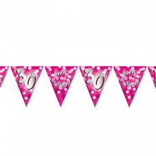 BUNTING 30TH PINK