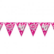 BUNTING 40TH PINK
