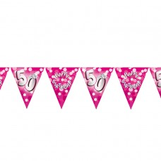 BUNTING 50TH PINK