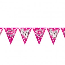 BUNTING 60TH PINK