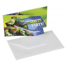 TMNT 6 Card Invites