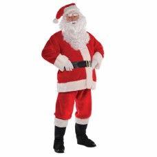 Santa Suit Mens Plush S/m