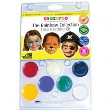Snazaroo Rainbow Clam Face Paint Pack