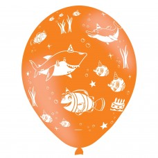 BALLOON: 6pk Ocean Buddies 4-s