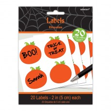 LABELS HALLOWEEN PUMPKIN