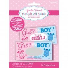 CARDS SCRATCH OFF GIRL
