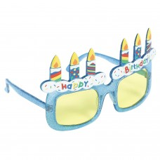 GLASSES BDAY CAKE BLU (UV)