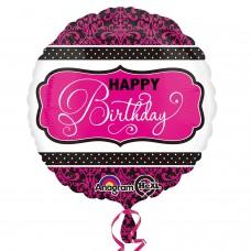 SD-C:Pink, Black, White Birthday