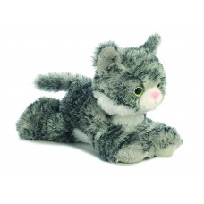 Mini Flopsie - Lily Grey Tabby Cat 8In
