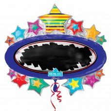 WriteOn:'Bright Star Black Board Marquee