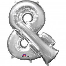 Symbol & Shaped Silver Foil Balloon 34""