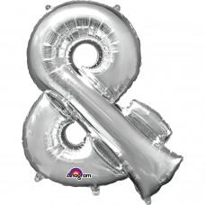 "Symbol & Minishape Silver Foil Balloon 16"""