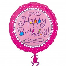 SD-C:Happy Birthday Pink Scallop