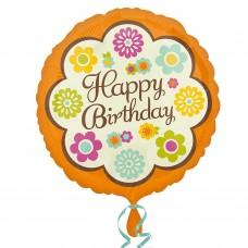 SD-C:Happy Birthday Retro Flowers