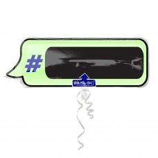 WriteOn:Hashtag Text Bubble
