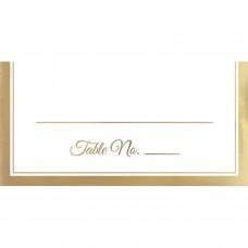 PLACECARD GOLD TRIM