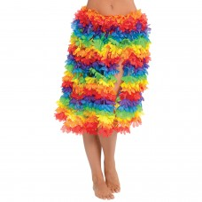 floral hula skirt rainbow