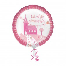 Communion Church Pink Std Foil balloon