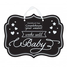 CHALKBOARD SIGN WKS UNTIL BABY