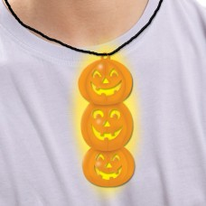 GLOW PENDANT NECKLACE -PUMPKIN