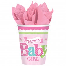 CUP 266ML WLCM LITTLE ONE GIRL
