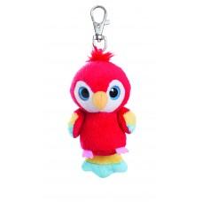 Lora Scarlet Macaw Keyclip 3In