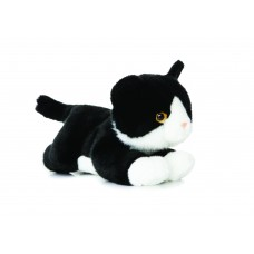 Luv to Cuddle Black/White Cat 11In