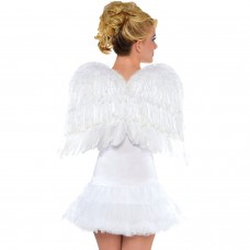 FEATHER WING 22IN WHT