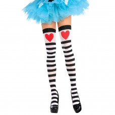 Hearts &Stripes Thigh Highs