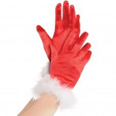 Mrs Claus Gloves Adult Std