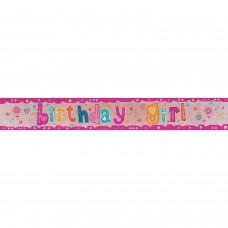 Banner 2.7m Holog Bday Girl