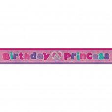 Banner 2.7m Holog Bday Princes