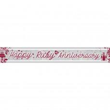 Banner 2.7m Holog Ruby Anniv