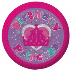 Badge Sml Holog Bday Princess