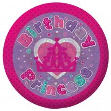 Badge Sml Holog Bday Princess