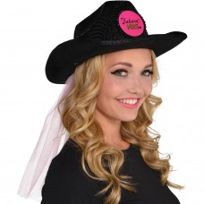 Hen Party - Cowboy Hat With Veil