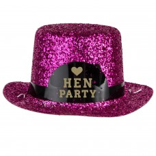 Hen Party - Team Bride Mini Glitter Hat