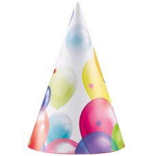 BALLOON PARTY HATS 8PK