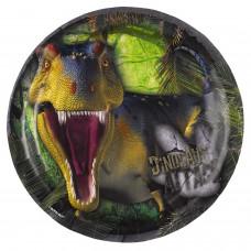 8 small plates Dinosaur Attack