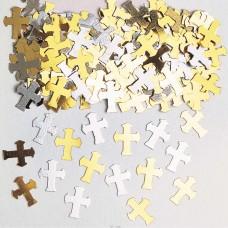 Confti Croses gold/slv 14g met