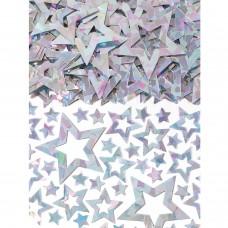 Confetti Star Shimmer silv 14g
