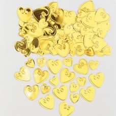 Confetti Lv Hrts gold 14g emb