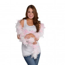 Hen Party - Boa White/Pink