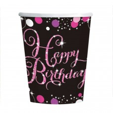 CUP 266ML PINK CELEB H Bday
