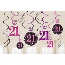 SWIRLS 12CT PINK CLBRTN 21
