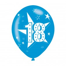 BALLOON  pk6 27cm Age 18 Blue