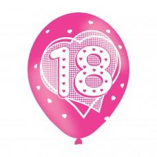 BALLOON  pk6 27cm Age 18 Pink