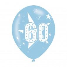 BALLOON  pk6 27cm Age 60 Blue