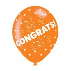 BALLOON  pk6 27cm Congrats