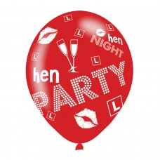 BALLOON  pk6 27cm Hen Party
